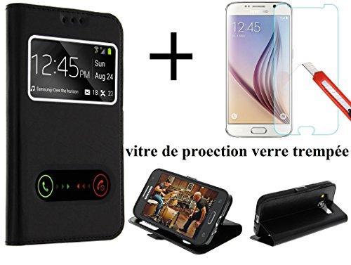 Carcasa para iPhone 5 y 5S, Color Negro, con Doble Ventana, Ultra...