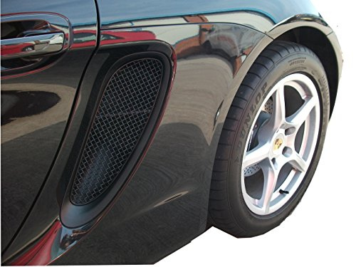 Zunsport Compatible with Porsche Cayman/Boxster 981 (All) - Side Vents Grill Set - Black Finish (2012 to 2016)