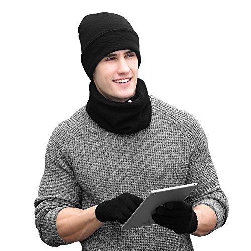 VBIGER Cappelli Invernali Uomo Cappelli da Uomo Invernali Sciarpa Uomo Guanti Invernali Guanti Touch Screen