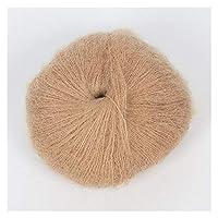 JINRAN 1PCS糸用ニットモヘアウールニットソフト糸指ベビーかぎ針編み糸スレッドかぎ針編み25グラム (Color : 18)