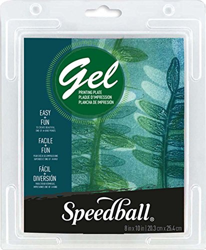 Speedball 8 X 10 Gel Printing Plate, 8' x 10', Clear