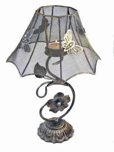 Teelicht-Lampe aus Metall (auch für Kerzen) im Jugendstil