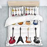 TARTINY Bedding Juego de Funda de Edredón Guitarra Una Amplia Variedad de