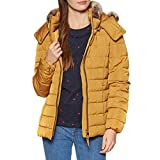 Joules Womens Cassington Padded Insulated Warm Hooded Coat Golden