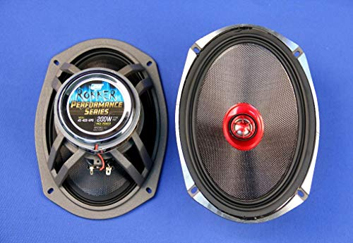 "J&M Audio Rokker 6x9"" Speaker kit for 1998 and newer Harley with Aftermarket Saddlebag Lids"