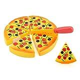 sunnymi Baby Spiele Spielküche Zubehör Kinderküche Rollenspiele,Pizza Spielzeug Schneiden Set Safe Kid Educational Toy (Orange, 15CM*15CM)