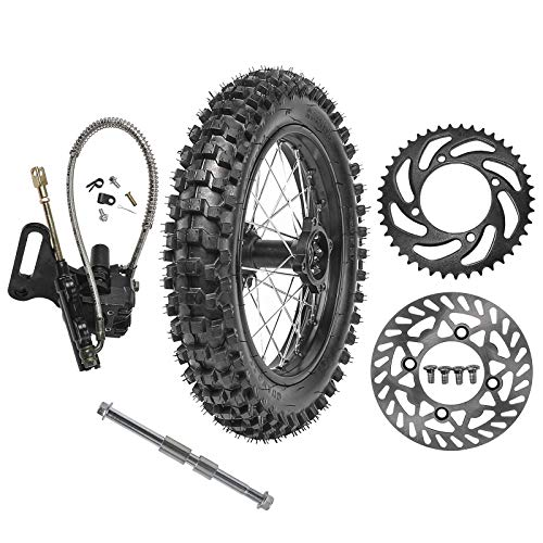 Amazing Deal WPHMOTO 90/100-14 Rear Wheel Tire Rim With 15mm Bearing & Brake Disc Rotor & 428 41T Sp...