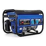 EBERTH 3000 Watt Générateur électrique (6,5 CV Moteur à essence 4 temps, Refroidi à l'air, 2x 230V, 1x 12V, Régulateur de tension automatique AVR, Alarme manque d'huile, Voltmètre)
