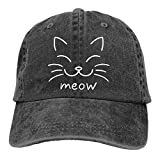 ONGH Meow Cat Face-1 Unisex Personalisieren Jeans Sonnenhut Einstellbare Baseballkappe