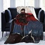 LUCKY Home RWBY Moon Night Ruby Rose Girl Mode Klassische Musterdecke, große, superweiche, warme und Bequeme Decke für FAL