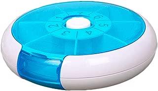 HEALLILY Pastillero Semanal Caja de Pastilla Semanal Rotativo Organizador de Medicina verde
