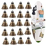 Qiwenr 30PCs Vintage Jingle Bells, 38MM Bronce Craft Bells Jingle Christmas Jingle Bells Bronce Colgante Tone Bells, para Decoración de árboles de Navidad Fabricación de Campanas de Viento