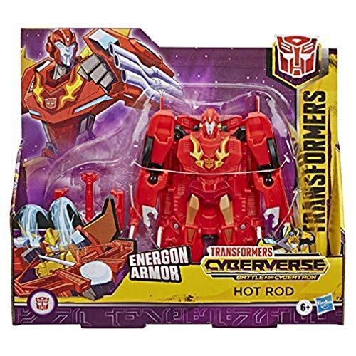 TRANSFORMERS Toys Cyberverse Ultra Class Hot Rod Action Figure - Combines with Energon Armour to Power Up - For Kids Ages 6 and Up, 6.75-inch