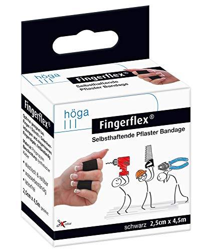 Fingerflex schwarz Selbsthaftende Pflaster Bandage, elastisch, reißbar, wasserbeständig, latexfrei