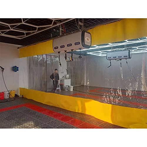 AMSXNOO Panel Lateral Impermeable De Lona, A Prueba de la Intemperie Plegable Hidratante, 0.6mm Lona De Protección con Reforzado Ojales por Pérgola Invernaderos (Color : Yellow, Size : 4X3M)