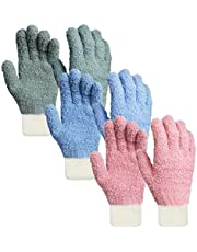 夢の物 マイクロファイバーお掃除手袋 掃除用 汚れ取り ブラインド フッキーナ 3色組
