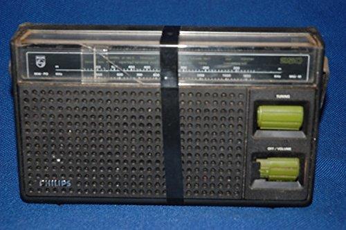 Unbekannt Desconocido Philips Radio batería – Funcionamiento con Red FM MW-PO Raras Transistor Radio Vintage 1970s