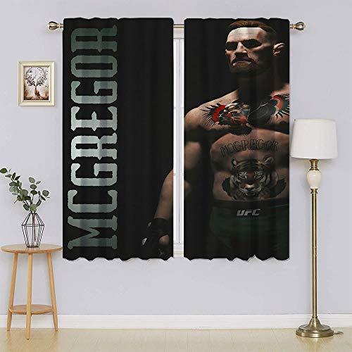 Conor Mcgregor - Cortinas opacas con filtro de luz para mantener el calor, cortinas para dormitorio 42 x 54 pulgadas