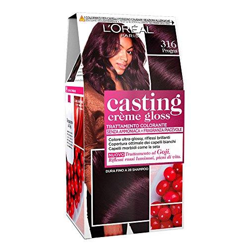 L'Oréal Paris Tinta Capelli Casting Creme Gloss, senza Ammoniaca per una Fragranza Piacevole, 316 Prugna, Confezione da 1