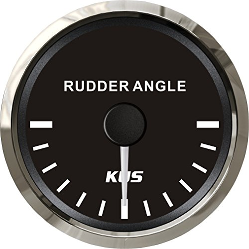 """KUS Waterproof Rudder Angle Indicator Gauge with Rudder Sensor 52mm (2"""") 12V/24V"""