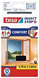 TESA Insect Stop Comfort red anti mosquitos Ventana Plata - Mosquiteras (1700 x 10 x 1800 mm, 141 g, Plata, 454 g)