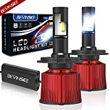 Bevinsee H4/9003 LED Headlight White 100W 15000LM 6000k Bulbs Kit-VC Cooling Tech,2pcs