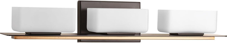 Progress Lighting P2717-20 Contemporary Soft 3-60W Halogen Bath Bracket, Antique Bronze