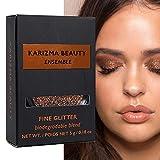 Glitzerlidschatten Biologisch Abbaubarer Ensemble // Karizma Beauty Bronze Bio-Glitter Eco Glitter Augenglitter Loses Lidschattenpigment 6,5 g