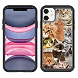 OptiCase iPhone 11 Pro Case - The Cat Collage Cats Hybrid Shockproof Unique Case with Great Protection