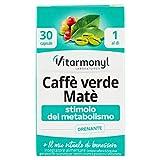 Vitarmonyl Caffè Verde Matè, Stimolo del Metabolismo, 30 Capsule