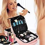 Beauty Shopping NiceEbag Makeup Bag Travel Cosmetic Case Professional Train Case Cute Make Up Storage