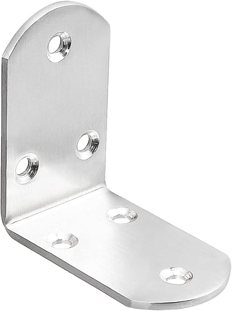 YeVhear Stainless Steel Corner Max 79% OFF Shelf Bracket Cheap SALE Start 65mm x 38mm