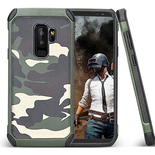 LCHULLE 2 in 1 Hülle für Samsung Galaxy S8 Handyhülle Outdoor Schutzhülle TPU + PC Bumper Doppelschichter Schutz Hülle für Samsung Galaxy S8 Tasche, Grün