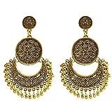 Honbay Bohemian Fashion Earrings National Style Retro Earrings Gypsy Dangle Earrings (Vintage Gold)