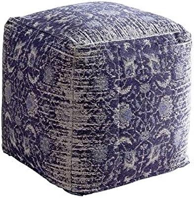 HAKU Möbel 30888 Hocker 40 x 40 x 42 cm, chrom / braun