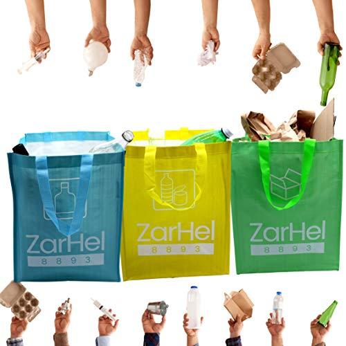 contenitori per raccolta differenziata, spazzatura differenziata, raccolta differenziata, set 3 sacchi colorati raccolta differenziata
