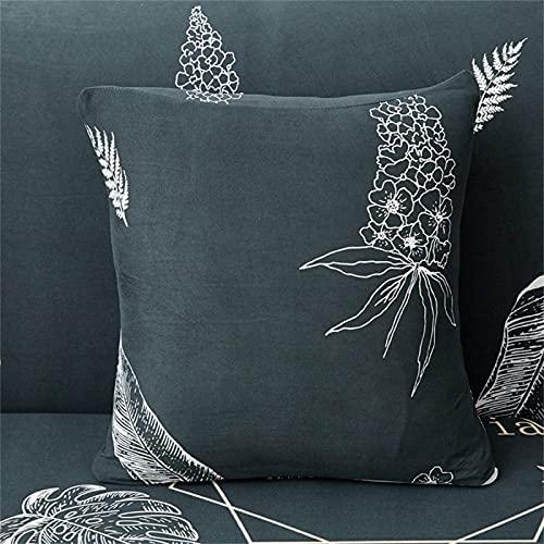 Funda De Almohada De Textiles para El Hogar Funda De Cojín De Impresión Cuadrada para La Decoración De La Sala De Estar del Dormitorio En Casa 2Pcs 18x18Inch(45x45cm)