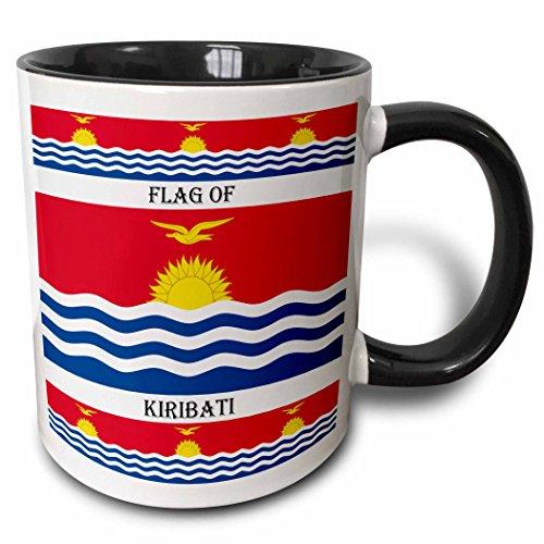 3dRose Flagge von Kiribati-Two Ton Becher, Keramik, Schwarz, 10.16cm x 7,62x-Uhr