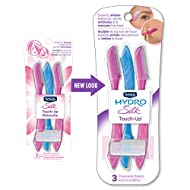 Schick Silk Touch-Up Multipurpose Exfoliating Dermaplaning Tool, Eyebrow Razor, and Facial Razor wit...