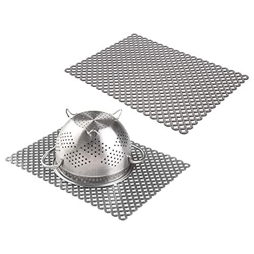 mDesign tappetino lavello protettivo e anti graffio – tappetini lavello in plastica – tappetino...