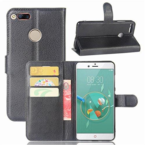 NEKOYA ZTE Nubia Z17 Mini Hülle,ZTE Nubia Z17 Mini Lederhülle, Handyhülle im Brieftasche-Stil für ZTE Nubia Z17 Mini.Schutzhülle mit [TPU Innenschale] [Standfunktion] [Kartenfach] [Magnetverschluss]