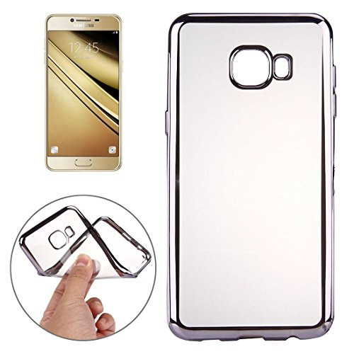 Popular Silicone Phone Shell Phone Case for Samsung Galaxy A9 / A900 Electroplating Transparent Soft TPU Protective Cover Case Shock Absorption Cover Stylish Low Profile Phone Case