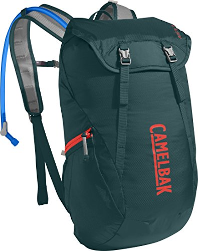 CamelBak Arete 18 Hydration Backpack for Hiking, 50 oz, Deep Teal/Hot Coral (1110303000)