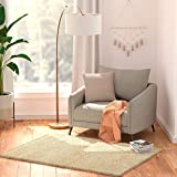 Amazon Basics Modern Plush Low-Pile Shag Rug 67X140 - White