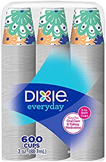 Dixie Everyday Disposable Bath Paper Cold Beverage Cups - 600 Count (3 oz)