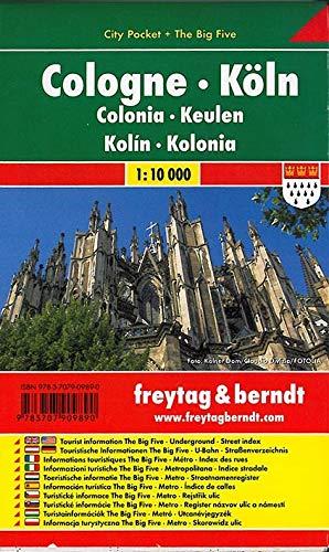 Köln, Stadtplan 1:10.000, City Pocket + The Big Five (freytag & berndt Stadtpläne)