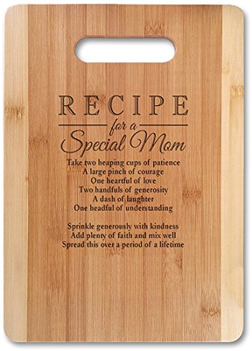 Mothers Gift Recipe for a Special Mom (Small 11' x 8.5', Not Customized) Bamboo...