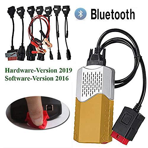 flamboyantche OBD-Ii Bluetooth,Diagnosegerät Auto,Diagnose-Tester Diagnosescanner,Obd2 Diagnosegerät Bluetooth,Bluetoot Auto LKW Fehlerdiagnoseinstrument 2016.1,Gold