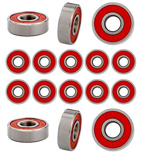 Joyce Lindberg Bearing Steel Material 608RS 608 2RS 8x22x7 mm Deep Groove Ball Bearing, ABEC-9 Pack of 20