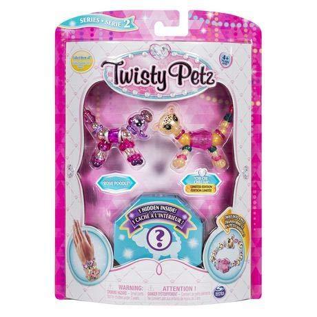 Twisty Petz - Sammelbare schillernde Armbänder - glitzernder Panda & Fluffles-Häschen
